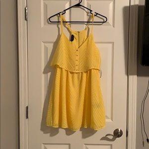 Bebe yellow chevron dress